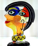 Picasso Head Glass
